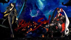 Rating: Safe Score: 80 Tags: armor black_hair blade_&_soul bodysuit eyepatch gun magic night red_eyes sword twintails weapon User: Wolvie