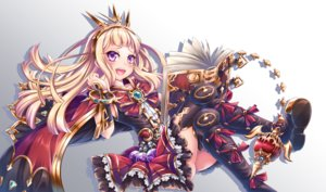 Rating: Safe Score: 7 Tags: aliasing ass blonde_hair blush book boots bow cagliostro_(granblue_fantasy) cape dress gradient granblue_fantasy headdress long_hair miyabi_urumi pink_eyes thighhighs User: RyuZU