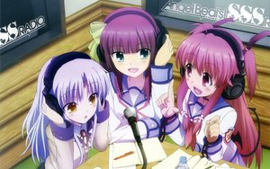Rating: Safe Score: 89 Tags: angel_beats! headphones microphone nakamura_yuri seifuku tachibana_kanade yui_(angel_beats!) User: meccrain