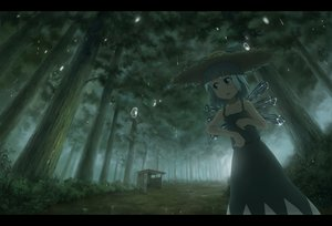 Rating: Safe Score: 112 Tags: cirno dress fairy forest hat rain sasajqazwsx touhou tree water wet wings User: FormX