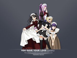 Rating: Questionable Score: 30 Tags: fate/stay_night maid matou_sakura rider saber tagme tohsaka_rin User: jjjjjhhhhh