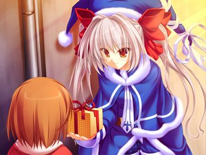 Rating: Safe Score: 12 Tags: game_cg gray_hair itsuki_kirara meri_chri orange_eyes tenmaso twintails whirlpool User: Wiresetc