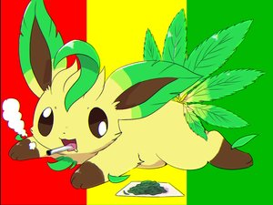 Rating: Safe Score: 24 Tags: cat_smile kemoribon leafeon leaves paper pokemon smoking User: otaku_emmy