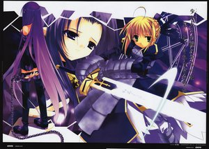 Rating: Safe Score: 16 Tags: caster fate/stay_night minazuki_haruka rider saber User: 秀悟