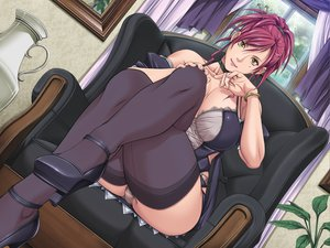 Rating: Questionable Score: 149 Tags: breasts panties red_hair sei_shoujo starless thighhighs underwear yellow_eyes User: fanecchi