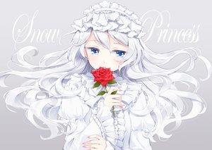 Rating: Safe Score: 67 Tags: blue_eyes flowers hazuki_natsu headdress long_hair original rose white_hair User: RyuZU