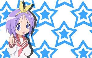 Rating: Safe Score: 7 Tags: hiiragi_tsukasa lucky_star stars User: Oyashiro-sama