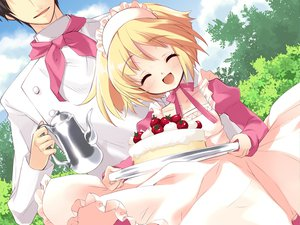 Rating: Safe Score: 9 Tags: alice_parade blonde_hair cake food game_cg maid odoodo_funny short_hair unisonshift User: 秀悟