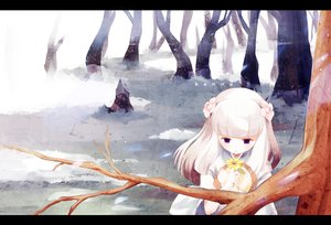 Rating: Safe Score: 50 Tags: flowers inuyasha kanna_(inuyasha) purple_eyes saik snow tree white_hair winter User: SonicBlue
