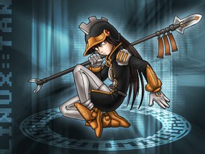 Rating: Safe Score: 11 Tags: anthropomorphism juzo-kun linux os-tan spear uniform weapon User: Oyashiro-sama