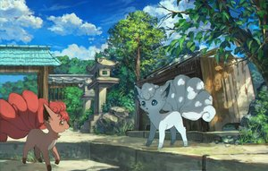 Rating: Safe Score: 30 Tags: clouds grass pippi_(p3i2) pokemon scenic sky stairs tree vulpix User: RyuZU