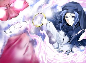 Rating: Safe Score: 22 Tags: blue_eyes blue_hair clouds kanaria_(artist) kumoi_ichirin short_hair touhou unzan User: PAIIS