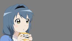 Rating: Safe Score: 98 Tags: blue_hair blush brown_eyes drink furutani_himawari headband long_hair transparent vector yuru_yuri User: adi-quesso