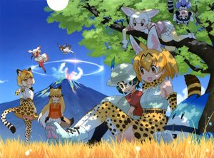 Rating: Safe Score: 36 Tags: animal_ears anthropomorphism black_hair blonde_hair breasts catgirl clouds common_raccoon_(kemono_friends) crested_ibis_(kemono_friends) fennec_(kemono_friends) foxgirl grass green_eyes green_hair group hat jaguar_(kemono_friends) kaban kemono_friends long_hair lucky_beast_(kemono_friends) pantyhose red_fox_(kemono_friends) scan serval short_hair skirt sky tagme_(character) tail thighhighs tree white_hair wings yoshizaki_mine User: RyuZU