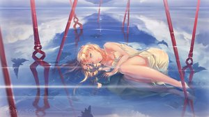 Rating: Safe Score: 52 Tags: animal bird blonde_hair clouds dress green_eyes long_hair neon_genesis_evangelion sky soryu_asuka_langley summer_dress tagme_(artist) water watermark User: BattlequeenYume