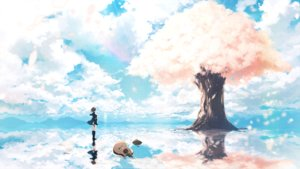 Rating: Safe Score: 57 Tags: c.c.r_(ccrgaoooo) cherry_blossoms clouds flowers guitar instrument kneehighs original petals scenic seifuku sky tree vocaloid User: FormX