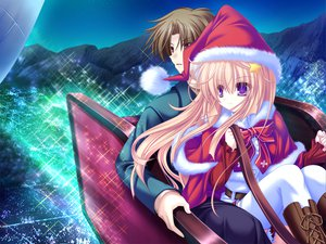 Rating: Safe Score: 9 Tags: blonde_hair christmas game_cg meri_chri mikagami_mamizu night purple_eyes santa_costume seiya_mashiro whirlpool User: Wiresetc