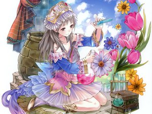 Rating: Safe Score: 62 Tags: atelier_rorona atelier_totori book gray_hair kishida_mel long_hair skirt totooria_helmold User: meccrain