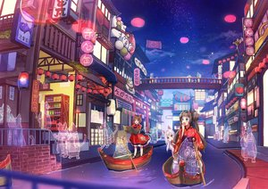 Rating: Safe Score: 47 Tags: animal animal_ears aqua_eyes blush boat brown_eyes brown_hair building cat catgirl cherim city clouds fang festival food group japanese_clothes loli long_hair night original purple_eyes reflection short_hair sky stars tail twintails water white_hair User: RyuZU