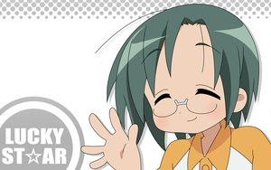 Rating: Safe Score: 11 Tags: glasses green_hair lucky_star narumi_yui short_hair white User: happygestapo