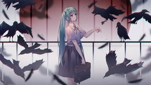 Rating: Safe Score: 54 Tags: animal bird hatsune_miku qi_zhong_ji school_uniform vocaloid User: mattiasc02