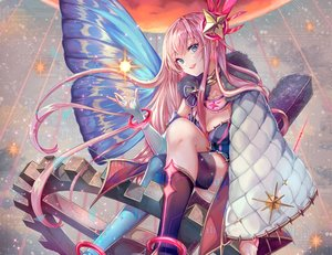 Rating: Safe Score: 71 Tags: aqua_eyes boots breasts cape choker cleavage cropped elbow_gloves gloves long_hair magical_mirai_(vocaloid) megurine_luka pink_hair pisuke vocaloid wristwear User: otaku_emmy