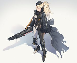 Rating: Safe Score: 130 Tags: blonde_hair bodysuit boots ddal gun hat long_hair military original ponytail techgirl weapon yellow_eyes User: luckyluna