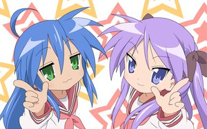 Rating: Safe Score: 26 Tags: hiiragi_kagami izumi_konata lucky_star school_uniform stars User: Oyashiro-sama