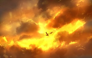 Rating: Safe Score: 79 Tags: bou_nin clouds original sky sunset waifu2x witch User: luckyluna
