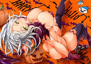 Rating: Questionable Score: 220 Tags: anthropomorphism ass bikini blush breasts cleavage erect_nipples gray_hair halloween kantai_collection stem swimsuit ta-class_battleship thighhighs User: Wiresetc