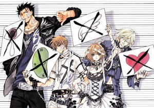 Rating: Safe Score: 44 Tags: bandage black_hair blonde_hair blue_eyes brown_eyes brown_hair chain choker clamp collar dress eyepatch fay_d_flourite green_eyes group kurogane male navel necklace red_eyes sakura_(tsubasa) scan short_hair syaoran torn_clothes tsubasa_reservoir_chronicle wristwear User: Tensa