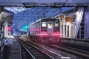 Rating: Safe Score: 91 Tags: hankachi_(okayama012) night nobody original realistic scenic snow train User: RyuZU