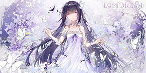Rating: Safe Score: 59 Tags: akemi_homura bai_qi-qsr butterfly dress headband long_hair mahou_shoujo_madoka_magica purple_eyes purple_hair User: BattlequeenYume
