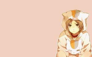 Rating: Safe Score: 67 Tags: all_male animal cat collar hoodie madara male natsume_takashi natsume_yuujinchou pajamas User: Andastra