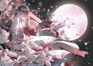 Rating: Safe Score: 48 Tags: flowers moon night polychromatic ribbons sky tadatsu vocaloid vsinger yuezheng_ling User: BattlequeenYume
