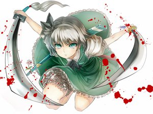 Rating: Safe Score: 70 Tags: katana konpaku_youmu purdre sword touhou weapon User: HawthorneKitty