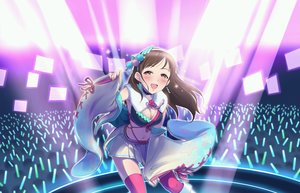 Rating: Safe Score: 20 Tags: blush boots breasts brown_eyes brown_hair collar idolmaster idolmaster_cinderella_girls idolmaster_cinderella_girls_starlight_stage long_hair navel nitta_minami skirt tagme_(artist) thighhighs User: RyuZU