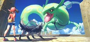 Rating: Safe Score: 52 Tags: clouds haruka_(pokemon) mightyena pippi_(p3i2) pokemon rayquaza User: FormX