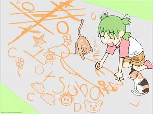 Rating: Safe Score: 6 Tags: animal cat koiwai_yotsuba yotsubato! User: Oyashiro-sama