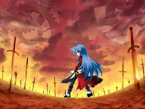 Rating: Safe Score: 52 Tags: cosplay fate_(series) fate/stay_night izumi_konata lucky_star parody sword weapon User: Oyashiro-sama
