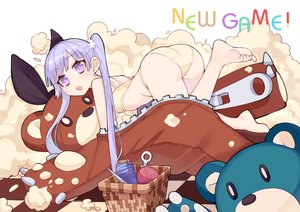 Rating: Safe Score: 52 Tags: ass barefoot bra new_game! panties purple_eyes purple_hair ryuuno6 suzukaze_aoba teddy_bear twintails underwear User: FormX