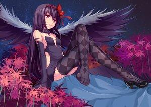 Rating: Safe Score: 248 Tags: akemi_homura akuma_homura beiyu collar mahou_shoujo_madoka_magica tagme thighhighs wings User: Rihardo
