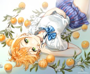 Rating: Safe Score: 41 Tags: ancotaku bow flowers food fruit green_eyes hoshizora_rin leaves love_live!_school_idol_project orange_(fruit) orange_hair seifuku short_hair signed skirt User: otaku_emmy