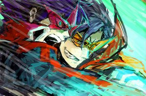 Rating: Safe Score: 25 Tags: kamina simon tengen_toppa_gurren_lagann User: haru3173