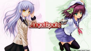 Rating: Safe Score: 55 Tags: angel_beats! gun nakamura_yuri tachibana_kanade thighhighs weapon User: pantu
