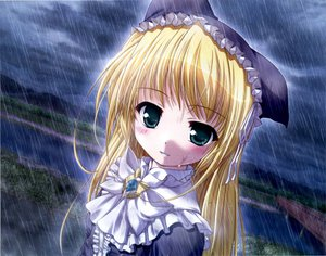 Rating: Safe Score: 19 Tags: blush rain water wreathlit_noel yoake_mae_yori_ruri_iro_na User: Oyashiro-sama