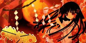 Rating: Safe Score: 20 Tags: black_hair flowers fururi hakurei_reimu hinayuki_usa japanese_clothes long_hair miko red_eyes ribbons touhou User: Oyashiro-sama