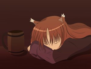Rating: Safe Score: 34 Tags: animal_ears brown_hair horo long_hair sleeping spice_and_wolf tagme wolfgirl User: Asajina