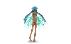 Rating: Safe Score: 129 Tags: aqua_hair barefoot dress long_hair saya saya_no_uta twintails white wings User: Cheesestorm