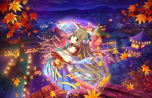 Rating: Safe Score: 39 Tags: annin_doufu autumn bell brown_eyes brown_hair building city idolmaster idolmaster_cinderella_girls idolmaster_cinderella_girls_starlight_stage japanese_clothes leaves long_hair night scenic sky socks yorita_yoshino User: RyuZU